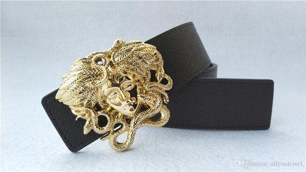 Designer Full Big Medusa boucle ceintures Hommes luxe google Buckle ceinture top mode mens ceintures en cuir véritable