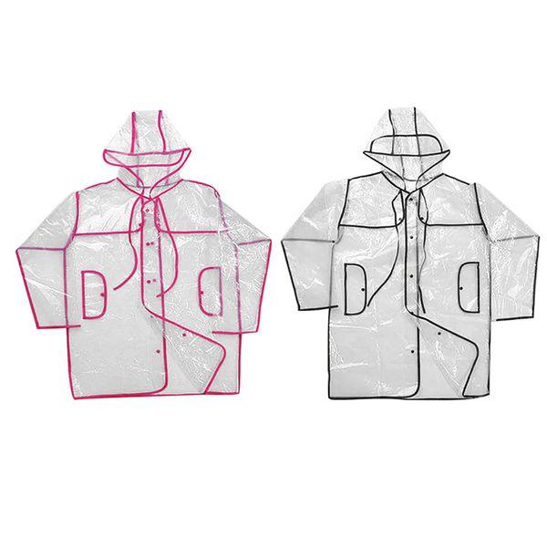 Size M Transparent Raincoat Long/Short Style Men Women Couple Windbreaker Hood Waterproof Raincoat Outdoor Hiking Rainwear Ponc