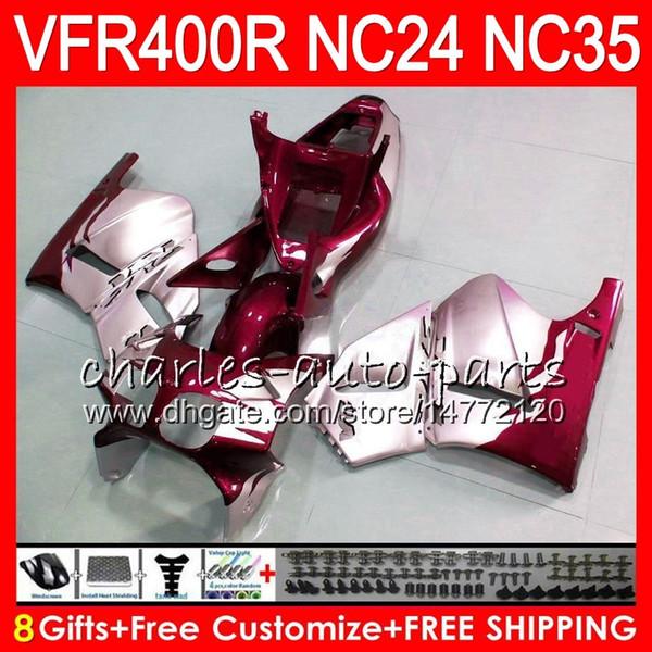 RVF400R For HONDA VFR400 R NC24 V4 VFR400R 87 88 94 95 96 81HM88 RVF VFR 400 R NC35 VFR 400R 1987 1988 1994 1995 1996 hot Dark red Fairings