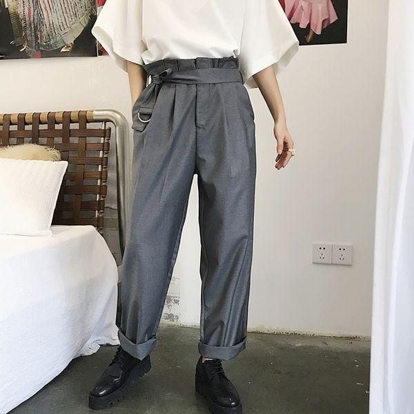 El nuevo diseño 2018 cubre los pantalones holgados rectos del harem de los hombres del logotipo popular de los pantalones de la alta cintura ¡M-6XL! Pantalones de hombres grandes yardas