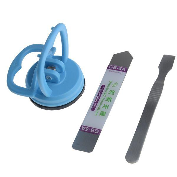 Acero inoxidable Apertura Spudger Ventosa Metal Pry Tool para tabletas de teléfonos móviles Pantalla LCD Battery Case Repair