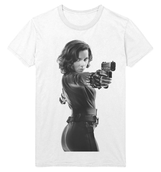 Compre Viuda Negra Natasha Romanoff Avengers Traje De Gato PDX1 Camiseta Blanca A $12.7 Del Crazytees | DHgate.Com