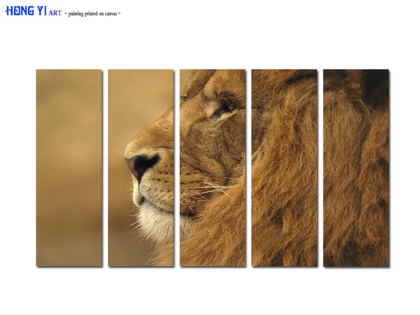 Large Contemporary Hot Sale Art Wall Animal Lion Head oil painting Picture Printed on canvas for Living Room Bedroom Home Decor Aset199