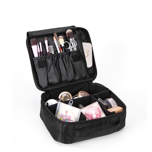 Yesello Double Layer Organizer Makeup Bag Waterproof Professional Cosmetic Bag Women Travel Handbag