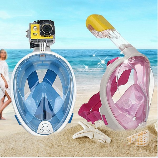 AOTU 2018 New Underwater Scuba Anti Fog Full Face Diving Mask Snorkeling Set Respiratory Masks Safe Waterproof For Cameras