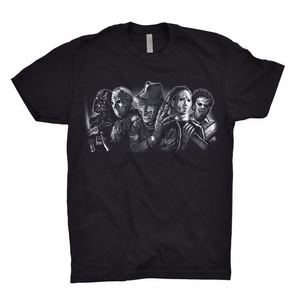 Freddy Krueger Darth Vader Jason Voorhees T Shirt Top Dope Team Evil Nerd Gamer 100% cotton casual short sleeve men men T shirt o-neck