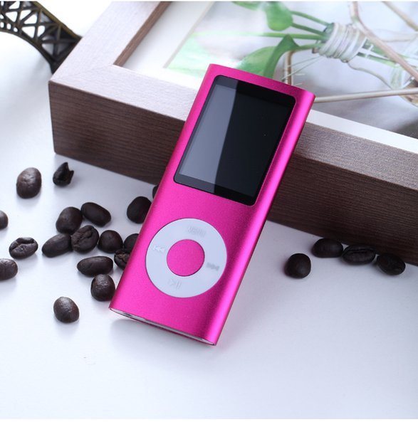 """Hot Sale Cheap Real Capacity 8GB Slim 1.8"""" 4th LCD MP3 MP4 Player FM Radio Video Multi Colors DHL Free"""