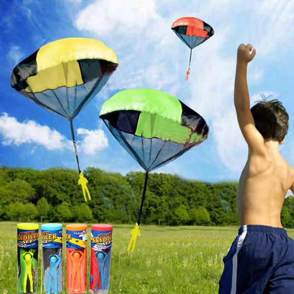 Hand Throw Mini Play Parachute Kids Toy Soldier Outdoor Sports Children Toy Gift