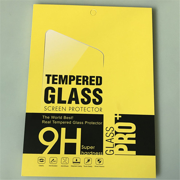 Tempered Glass For Apple iPad Pro 9.7 10.5 2017 2018 Air Air2 2 3 4 Tablet Screen Protector 9H Toughened Protective Film Guard Films Box