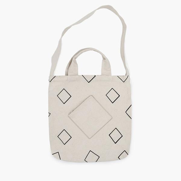 MOREUSEE natural and original cotton shoulder&handbags for girls in Geometry Diamond Series for light traveling (FUN KIK)