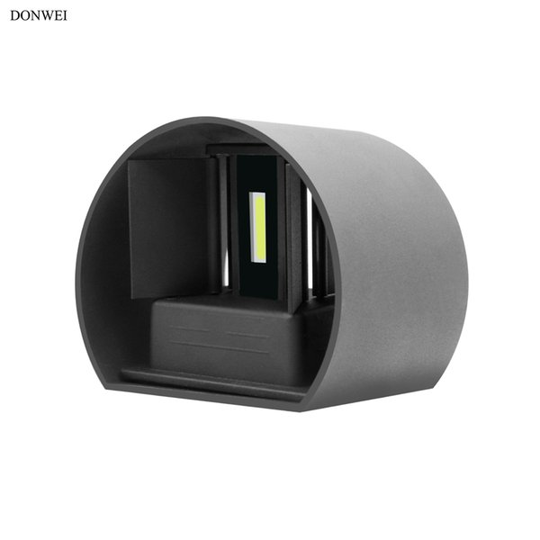 DONWEI Indoor Outdoor Waterproof 12W LED Wall Light Cylindrical Aluminum Wall Lamp for Home Bedroom Living room Porch Decor