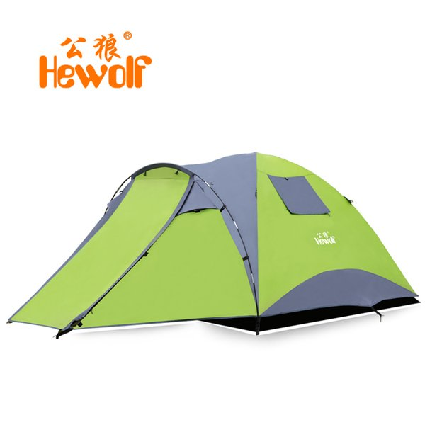 3-4 Person Large family Tent Double layer Camping Tent Good Quality Sun Shelter Four Season Gazebo Beach One Room One Hall
