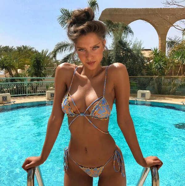 Hot sale! Swimwear Womens Sexy Halter Low Waist Swimsuit Bandage Criss Cross Bikini Sets 2018 Summer Beach Party 2 Piece Overalls