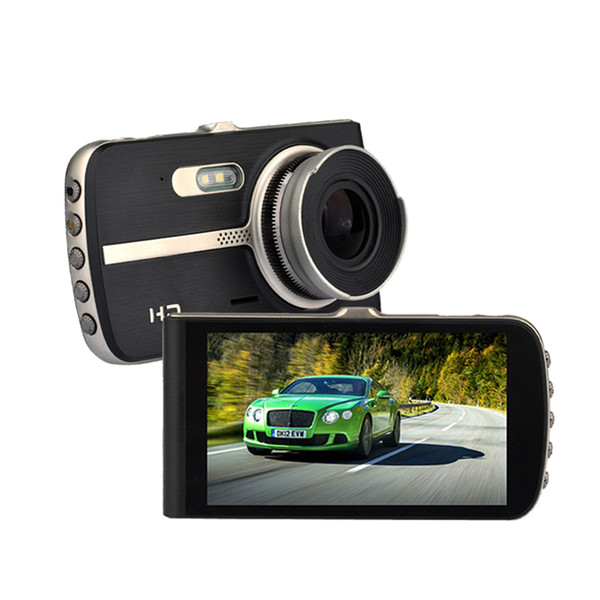 High quality car DVR camera vehicle digital dashcam 2Ch car video recorder full HD 1080P 170° WDR G-sensor parking monitor motion detection