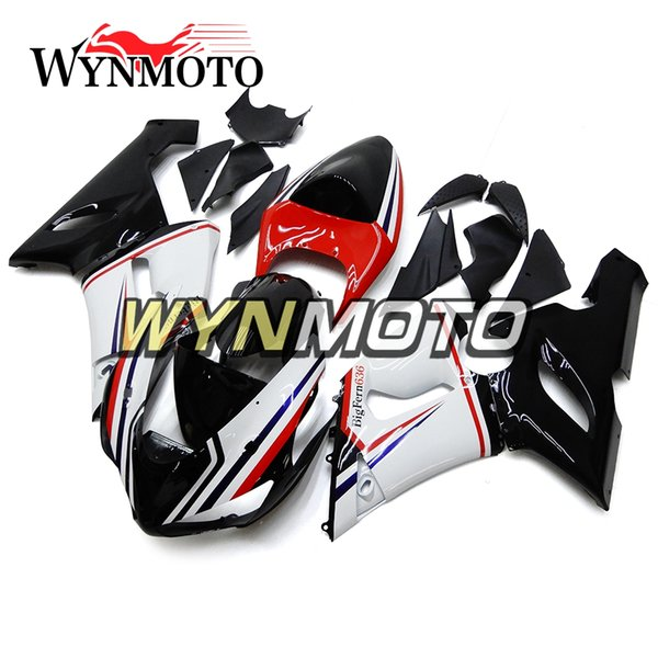 Complete Body Kit Sportbike Panels Fit For Kawasaki ZX-6R 2005 2006 636 ZX-6R 2005 2006 Red White Black ABS Plastic Fairing kit