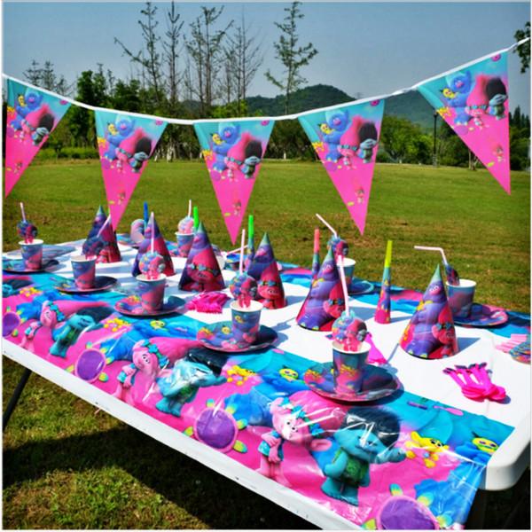 Acheter Qualité Magic Trolls Enfants Joyeux Anniversaire Party Decoration Set Party Supplies Bébé Douche Mariage Pack événement Fournitures De 93 78