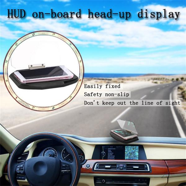 Foldable Car On-board Head Up Display GPS Navigation Speed Warning HUD Bracket Head Up Display For Smart Phone Car Stand Holdr