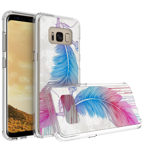 Acrylic Transparent Colorured Case For ZTE Blade X Z965 Coolpad Defiant 3632 REVVL plus TPU PC cheap price Back cover Shell