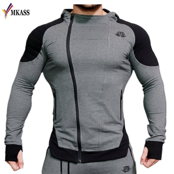 2018 Mode Baumwolle Hoodies Männer Fitness Hip Hop Herren Marke Solide Hooded Zipper Hoodie Strickjacke Sweatshirt Slim Fit Männer Hoody S18101705
