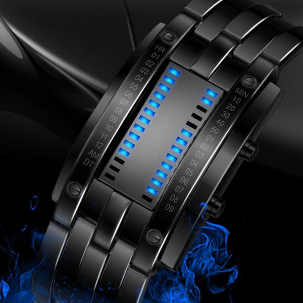 SKMEI 2016 Popular Brand Men Fashion Creative Watches Digital LED Display Water Shock Resistant Lover's Wrist Watches Clock Men Y1892508