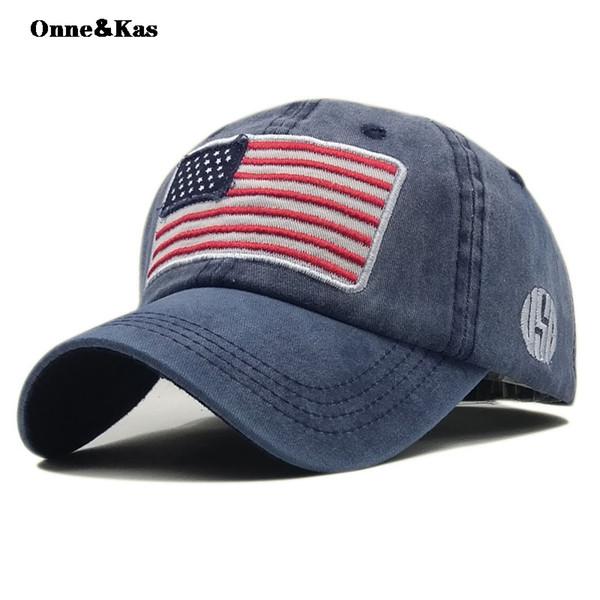 Bandeira americana Boné de Beisebol Camionete bonés Pai Chapéu Snapback Cap Hip Hop Homens Mulheres Desconto por atacado