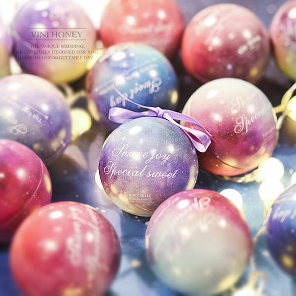 10pcs New European Wedding Birthdday Party Candy Bag Spherical Wedding Tin Candy Box Creative Elf Ball Candy Gift Box