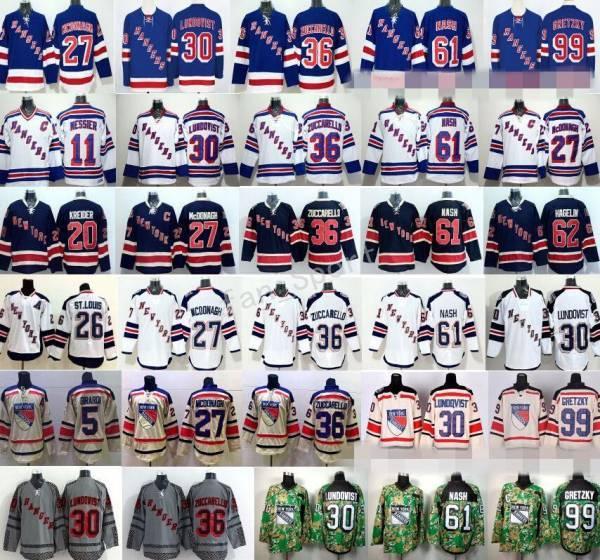 New York Rangers Jerseys Hockey 13 Kevin Hayes 16 Derick Brassard 27 Ryan McDonagh 30 Henrik Lundqvist 36 Mats Zuccarello 61 Rick Nash