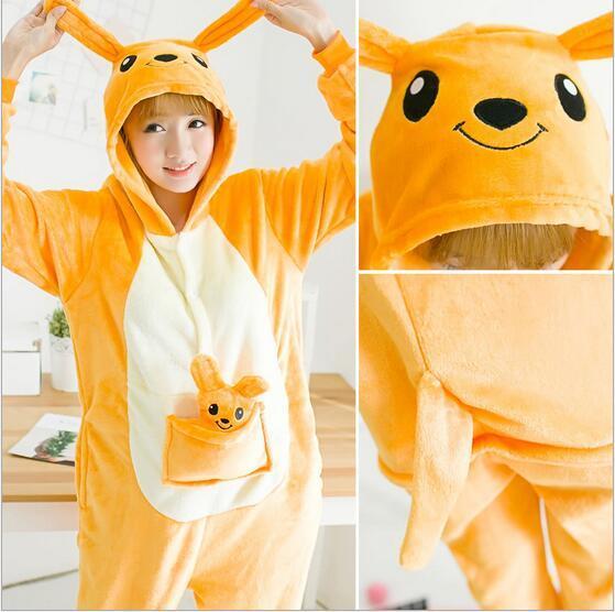 Hayvan Kaola Kanguru Zebra Penguen Onesie Yetişkin Unisex Cosplay Kostüm Pijama Erkekler Kadınlar Için Kigurumi Pijama Ücretsiz Nakliye Pijama