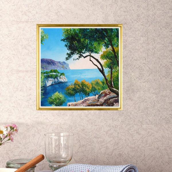 2020 5d Diy Diamond Painting Landscape Lake House Cross Stitch