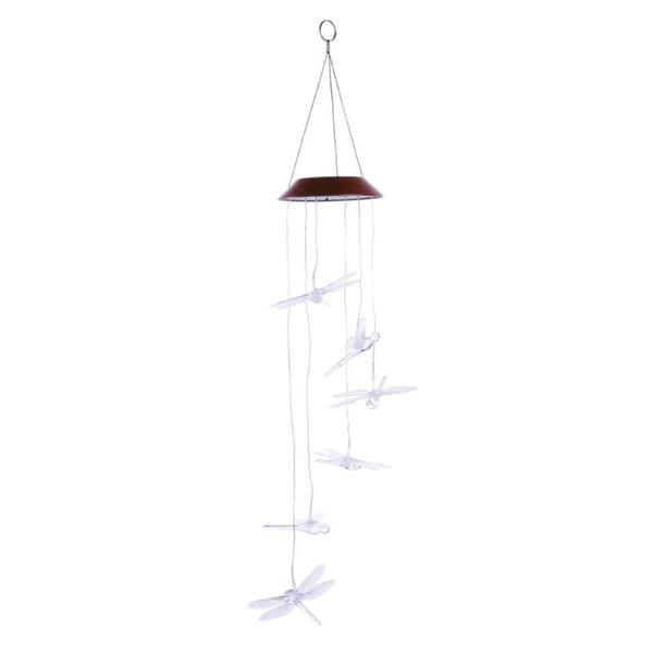 Farbwechsel Solarlicht Windspiel Klare Libelle LED Multi-color Solar Wind Nachtlicht Hausgarten Terrasse Dekoration