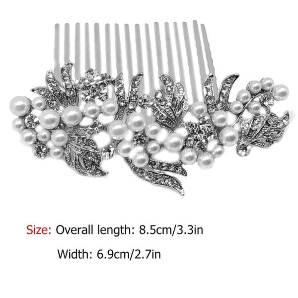 Imitation pearl Material Hair Comb Wedding Bride Hair Jewelry Headpieces Women Gift Accessories