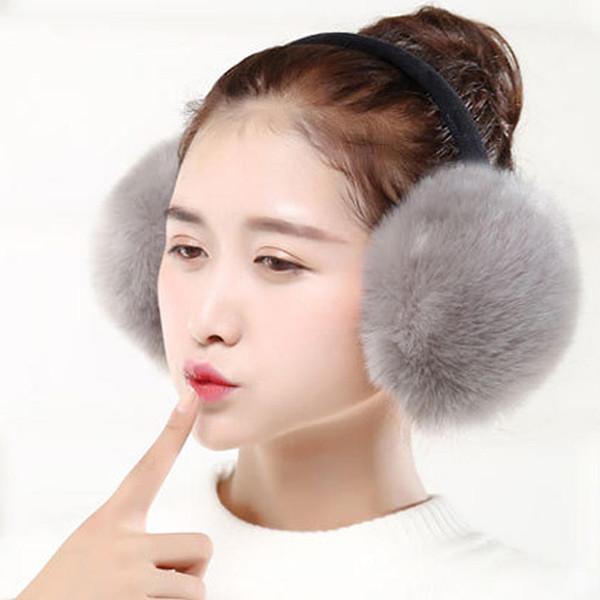 2018 Adult Women Warm Faux Fur Earmuffs Winter Lovers Ear Muffs Warmer Earflap Headband Fur Round Unisex Earmuffs 6C2690