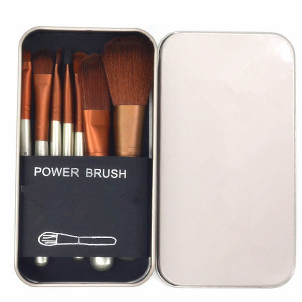 33a043ea7 Brand Nake Makeup 7pcs Nake Makeup Brushes Sets Beauty Make Up pinceaux de  maquillage With Metal Box Packing