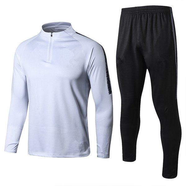 2018 2019 UK Soccer Sets Long Sleeve Training Suits Home White Away Black kit World Cup STERLING DELE Football Tracksuits