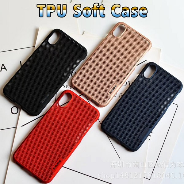 Phone case for iphone 6/7/8/x Fashion solid color mesh TPU Couple models phone cover for moto e3 g4