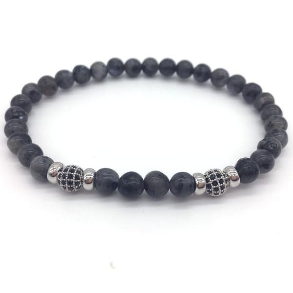 2018 Novos Homens Ou Mulheres Pave CZ Bola Natureza Pedra Beads Moda Charme Pulseiras Para Jóias Presente pulseira masculina