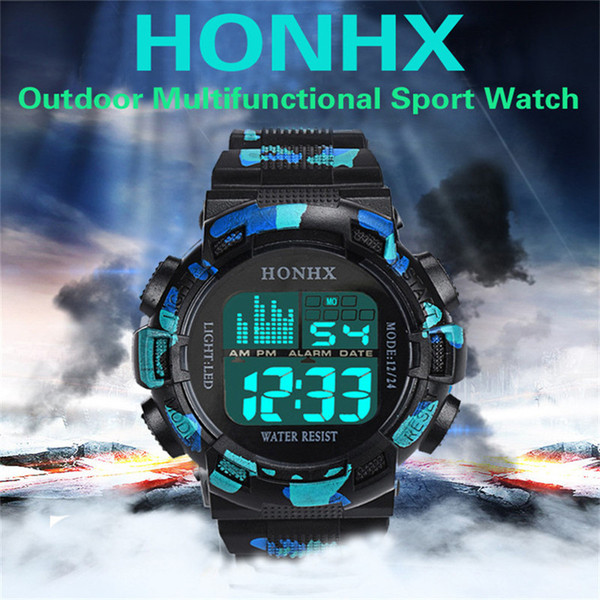 Luxury fashion works fine a sports digital watch has a chronograph alarm clock and other functions