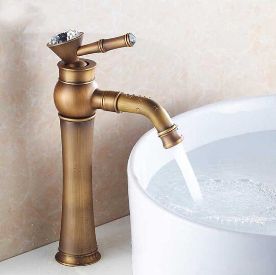 New arrival high quality antique brass luxury bathroom single lever design sink faucet basin faucet,kitchen tap mixer