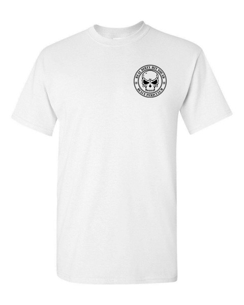 REAL DIRTY HIT SQUAD Fire Arms Armas Parte delantera trasera Camiseta hombre 1288