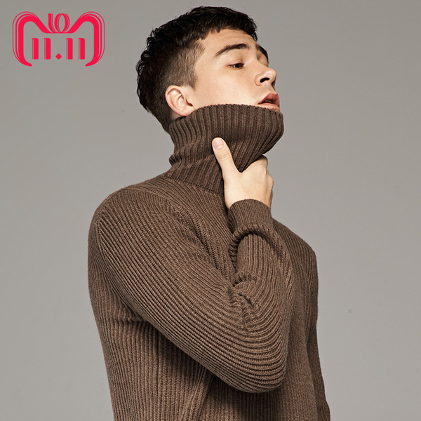 11.11 global shopping festival woolen sweater men winter thicken turtle neck cashmere sweaters pullover male thermal underwear thumbnail