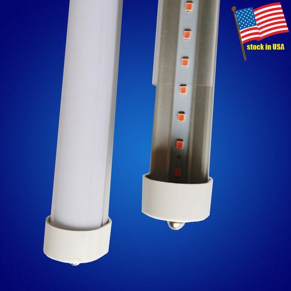 T8 R17D 8ft FA8 LED tube Single Pin LED Tube Lights 45W CE RHOS Approved LED Fluorescent Tube Lamps 85-265VAC smd2835 192leds