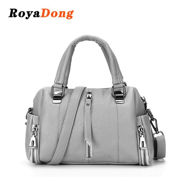Roya Dong 2018 Nuevo bolso de las mujeres de alta calidad bolsas de hombro de mujer de cuero Lady Messenger Bag diseño Crossbody
