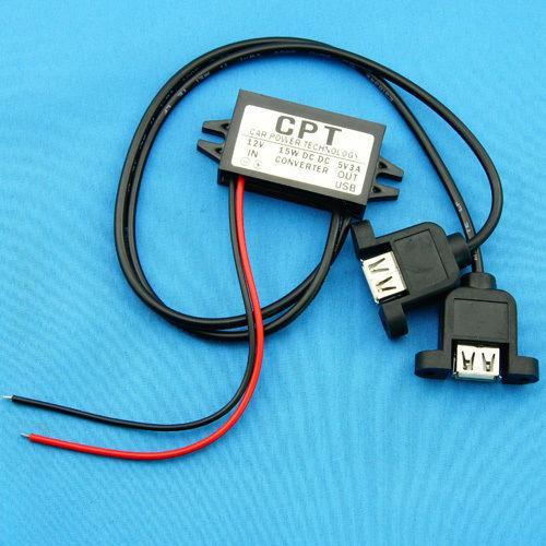 Freeshipping DC Buck Converter 12V to 5V 3A 15W voltage regulator USB Output CAR POWER Supply