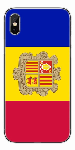 [TongTrade] Andorra Flag Soft Silicone TPU Cover Case For iPhone X 8 7 6s 5s Plus Painting Galaxy S9 S8 S7 S6 Edge Plus Case