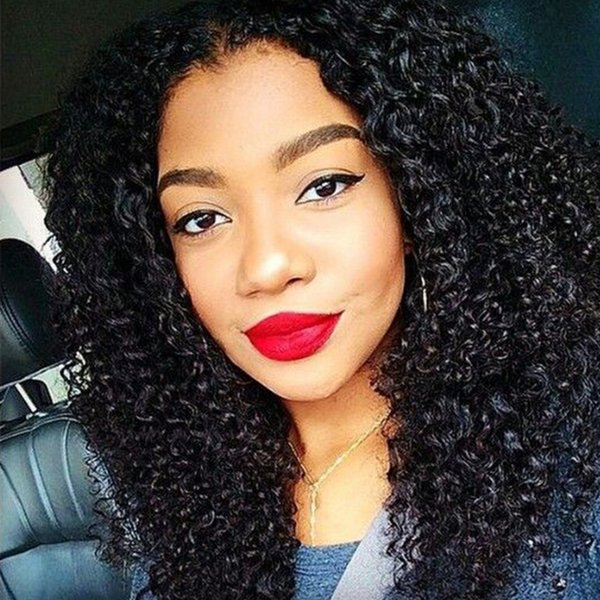 Kinky Curly Full Lace Wigs Malaysian 100% Human Virgin Hair Natural Color Lace Front Wigs with Baby Hair Fast Shipping LaurieJ Hair