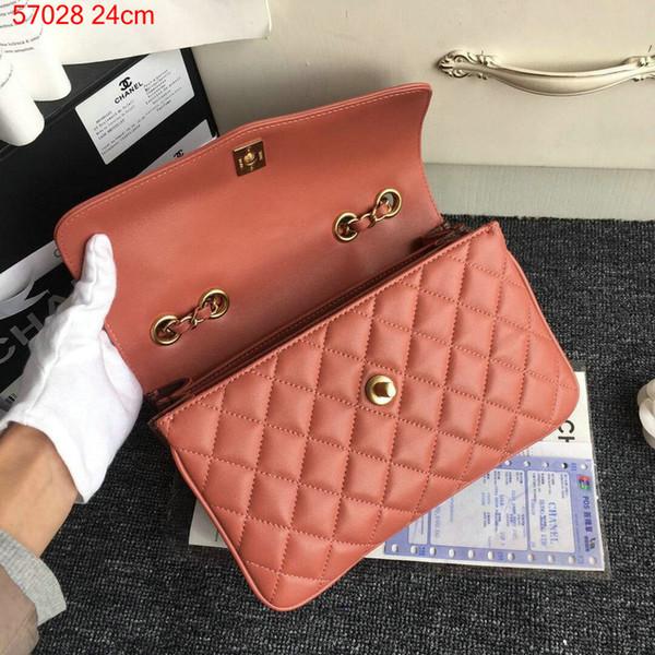 2018 Fashion brand bag genuine leather handbag women bags cosmetic bag Handbags high quality Luxury Famous Brands Real chain Shoulder Bags