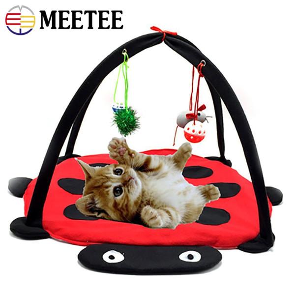 MEETEE новый трансграничный специальный красный Жук смешно кошка палатка игрушки для животных кошка гамак игрушки Оптовая DC-438