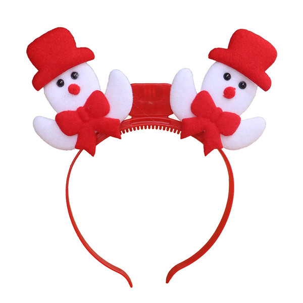 Christmas light headband colorful flash head buckle hairpin children's toys wholesale old antler snowman Novelty Games