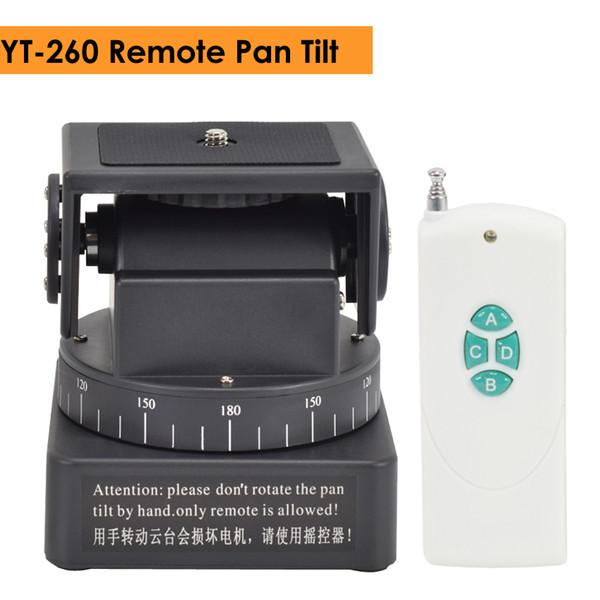 ZIFON YT-260 RF Fernbedienung RC Motorisierte Schwenkneigung für Fotokameras Mobiltelefone Go Pro Sportkamera Sony mit 1/4 Zoll Platte