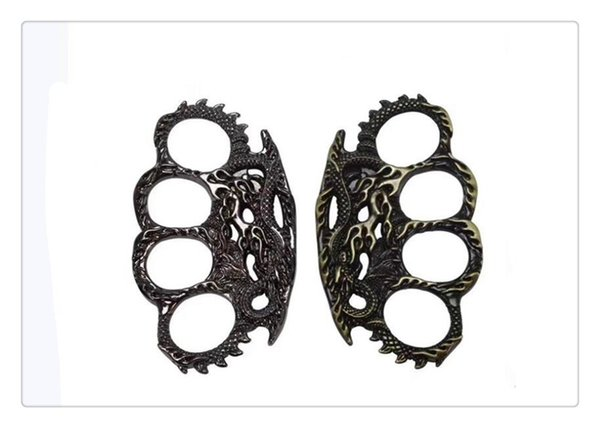 Outdoor Knuckles Thin Equipment Steel Brass Knuckle Dusters Self Defense Personal Security Hand Buckle Exercise Self-defense Gear
